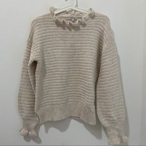 Madewell Ruffle-Neck Pullover Sweater